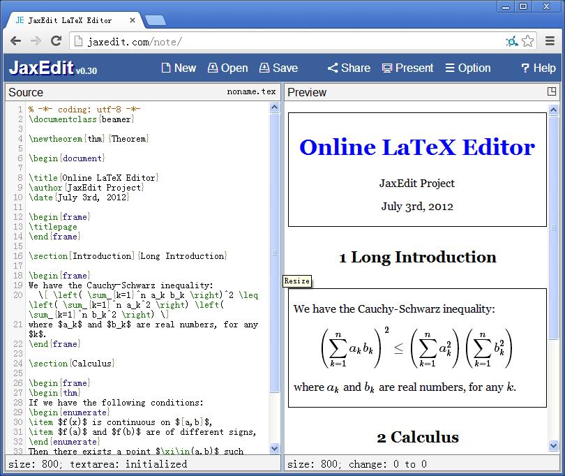 JaxEdit Online Editor
